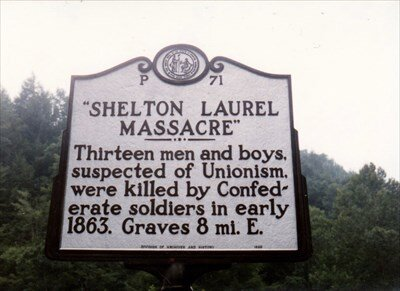 Historical marker in Madison County, NC