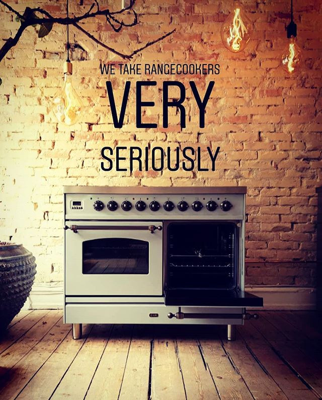 Custom made rangecookers made to match your kitchencabinets, your car or just to a colour of your choice!  What would you match it with? #rangecooker #design #kitchen