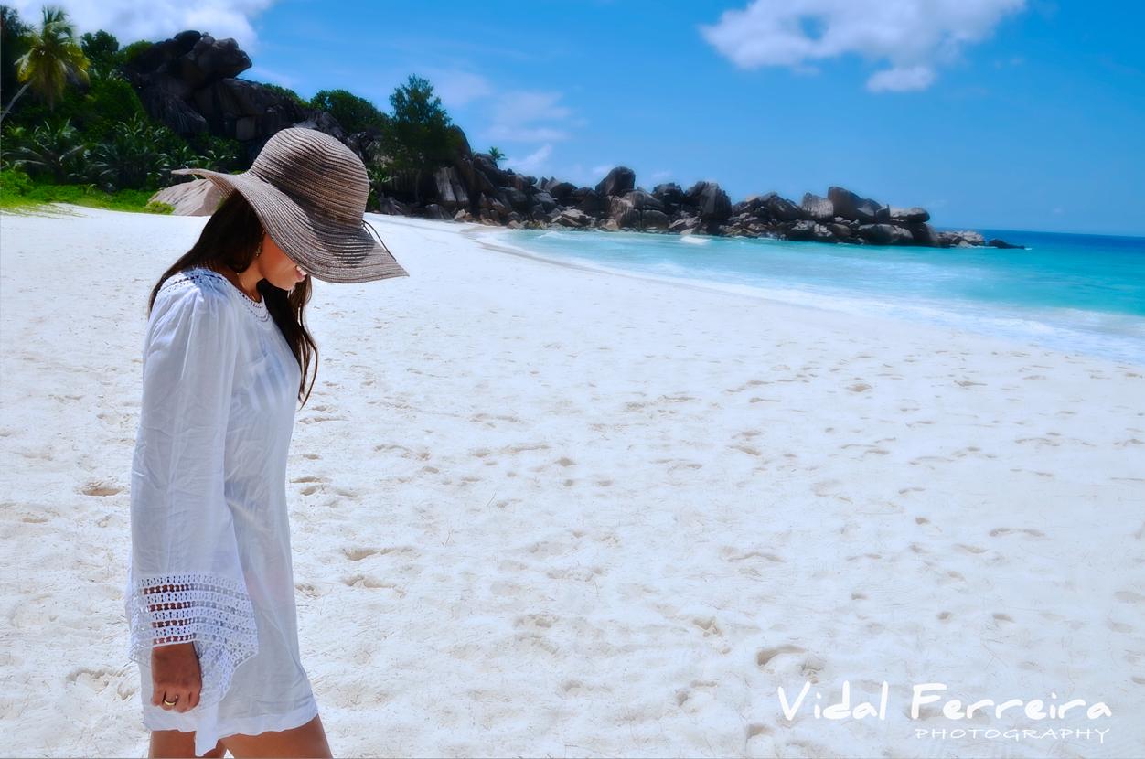 Walking into Paradise - La Digue, Seychelles