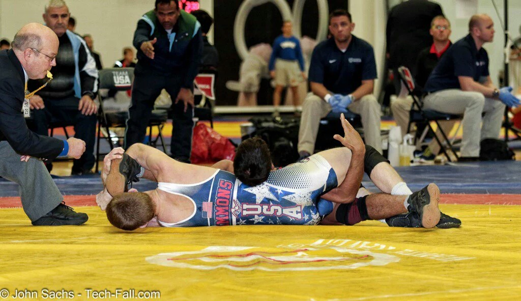 From the match with India where the coaches ran out on to the mat to get dq'd.