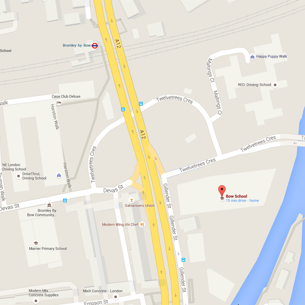 Bow School Google Map