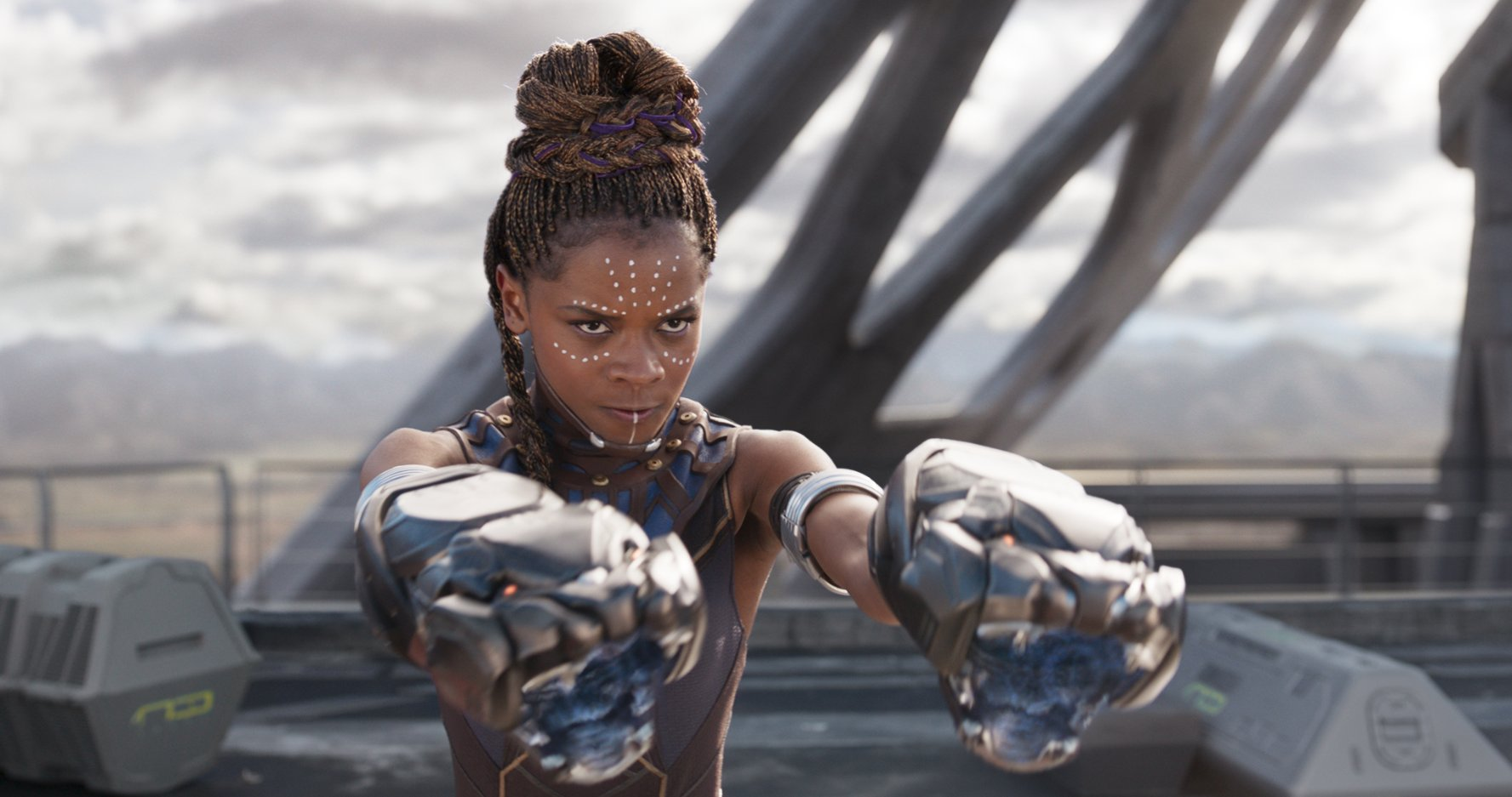 Ex Top Boy actor Letitia Wright stars as T'Challa's brilliant, tech-savvy sister, Shuri. Credit: Forbes Magazine, 2018