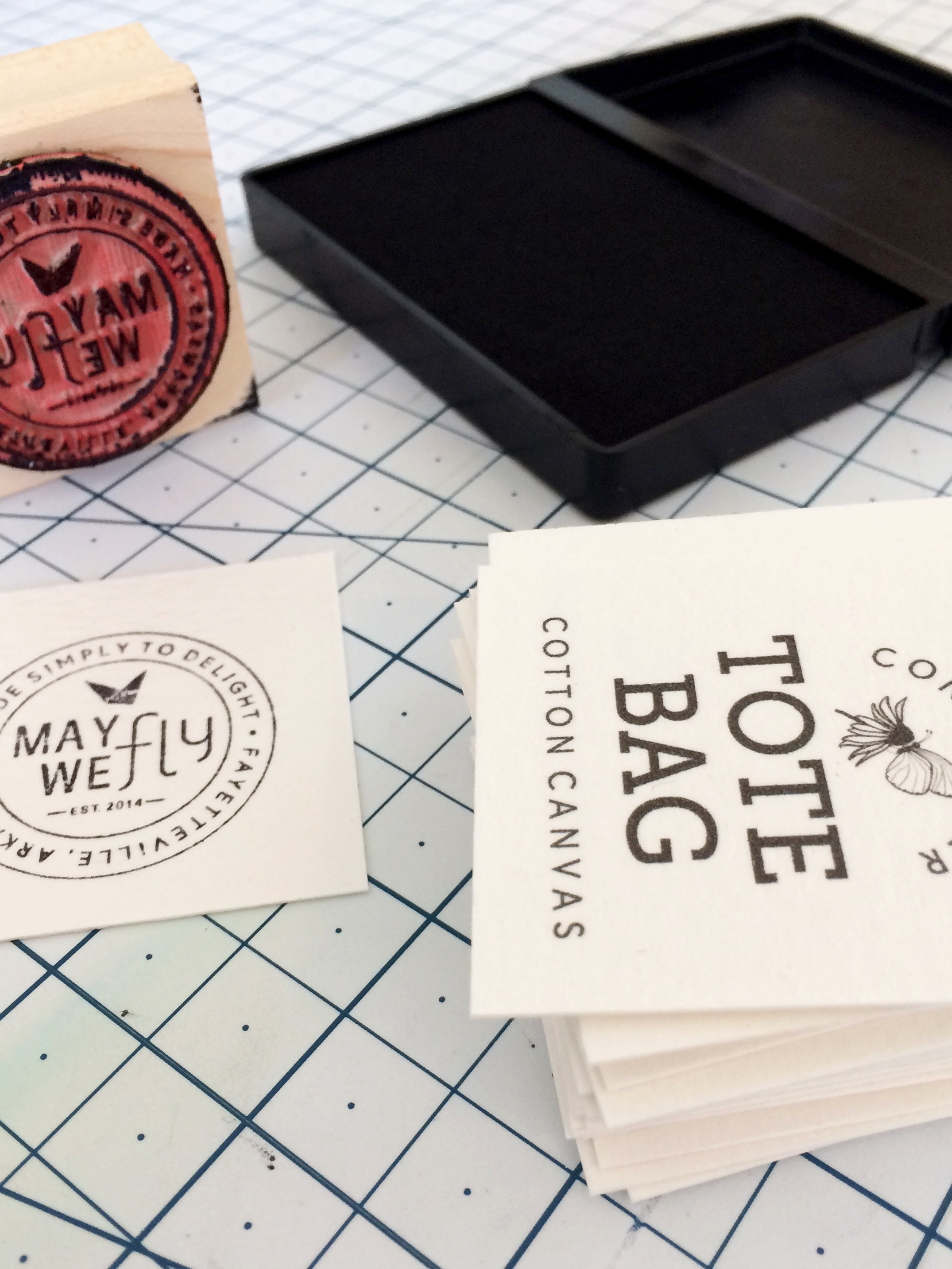 I use stamps for many of my packaging labels so I can use up my scrap paper!