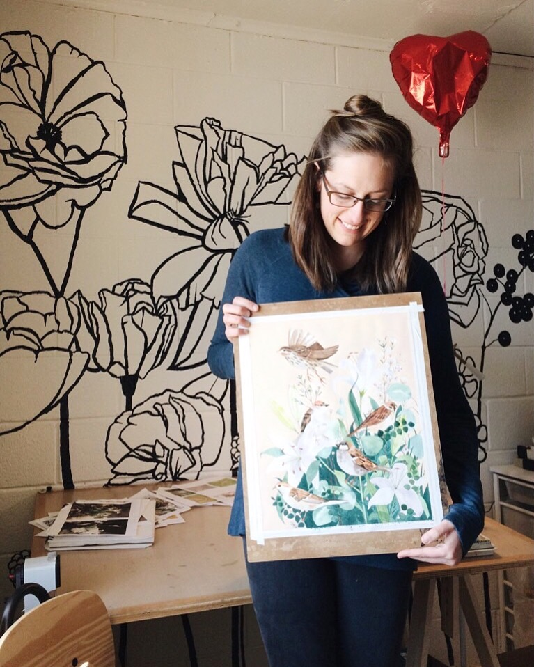 Watercolor artist Leana Fischer in Fayetteville, AR