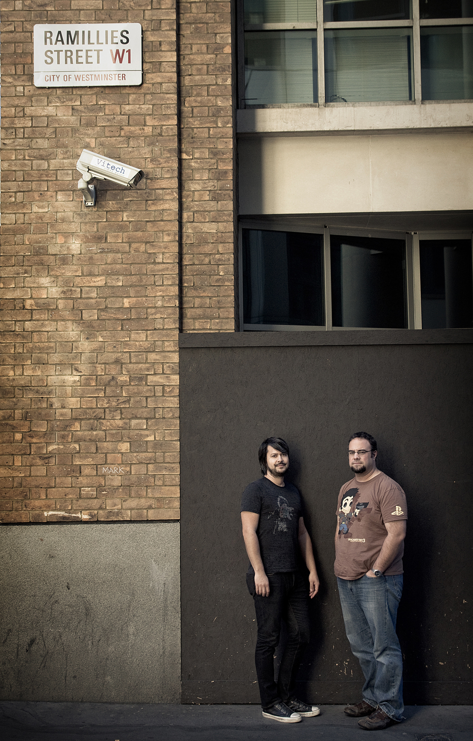 Arne Meyer and Justin Richmond of Naughty Dog         Photographed for GamesTM Magazine
