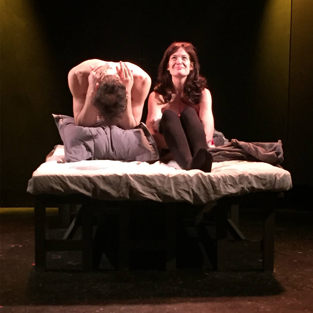 "ROBERT Z GRANT AND KAREN CHAMBERLAIN IN a stage production of ""THE BRAZILIAN DILEMMA"" PRESENTED IN DECEMBER 2015 AS PART OF ""C:10 COMEDY"""