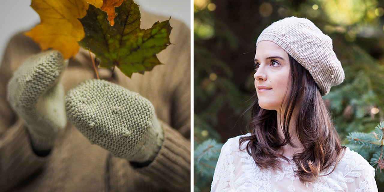 Val used Worsted III to knit versions of her Cadboro  Hat  and  Mitts .