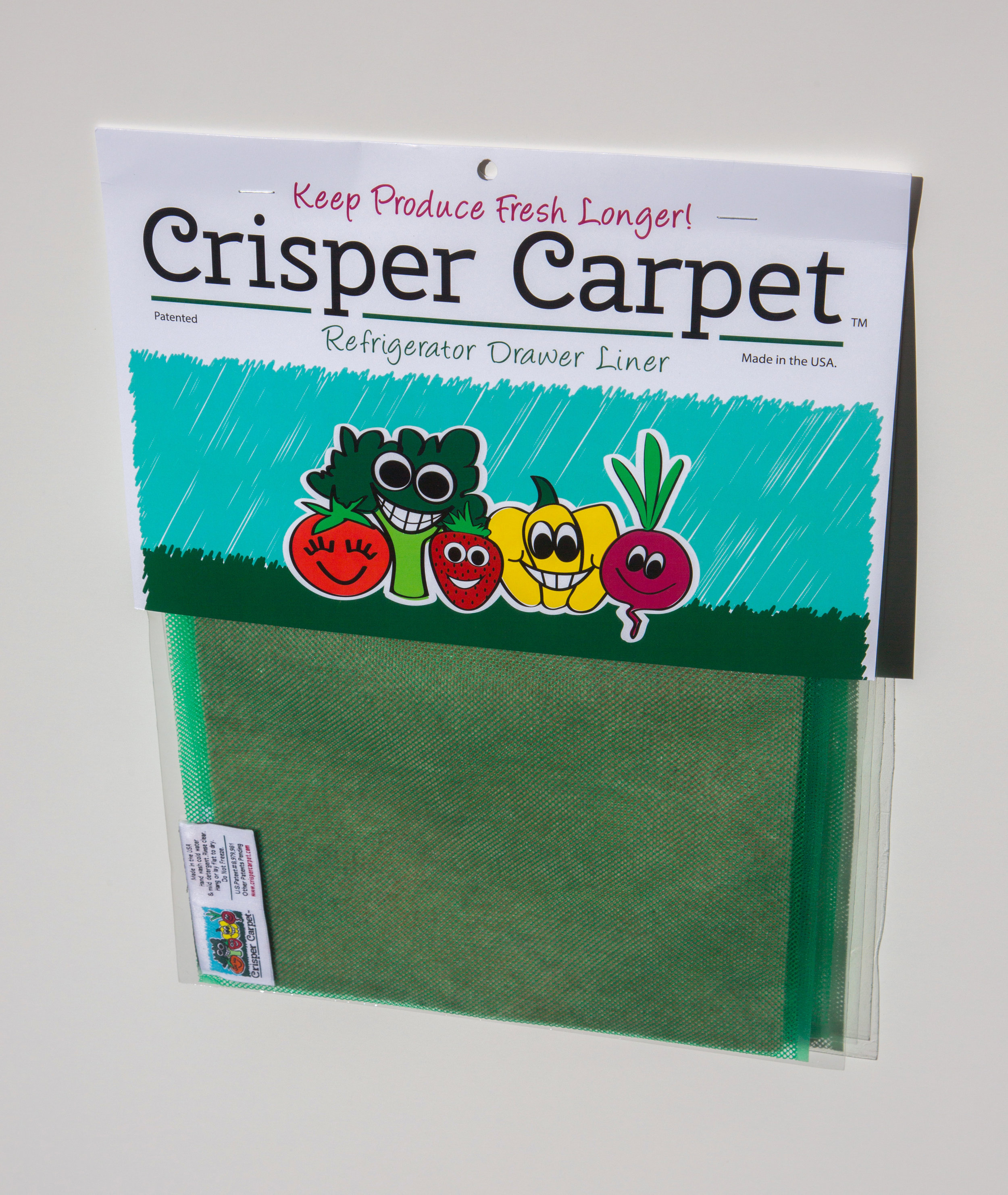 Don't let produce go to waste! - Grab your 2-pack Crisper Carpet Refrigerator Drawer Liner today!