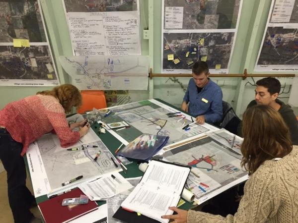 Students at Work - Village Vision and VIU Design Visioning Workshop September 2016
