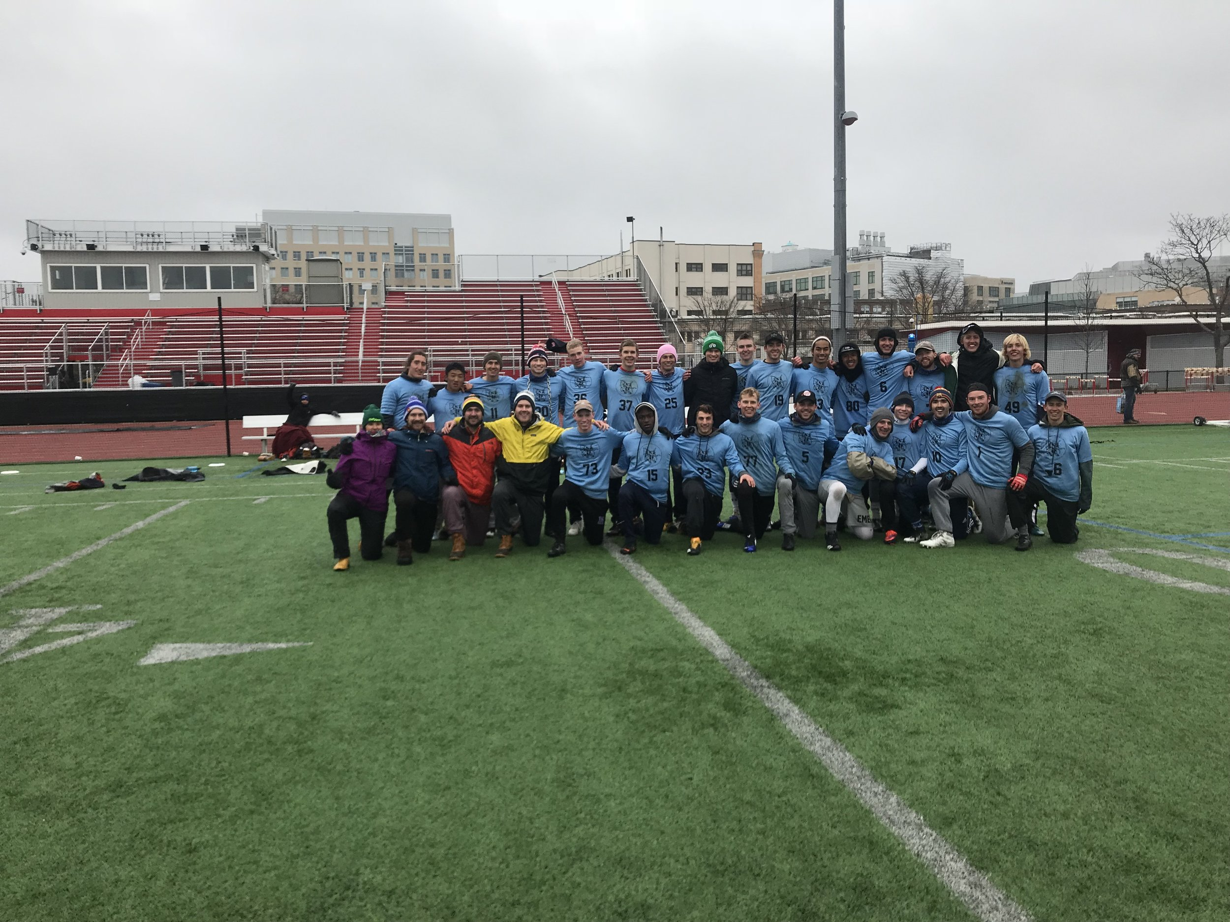 The Emen went 5 - 0 with a 13 - 6 victory over Northeastern in the finals.