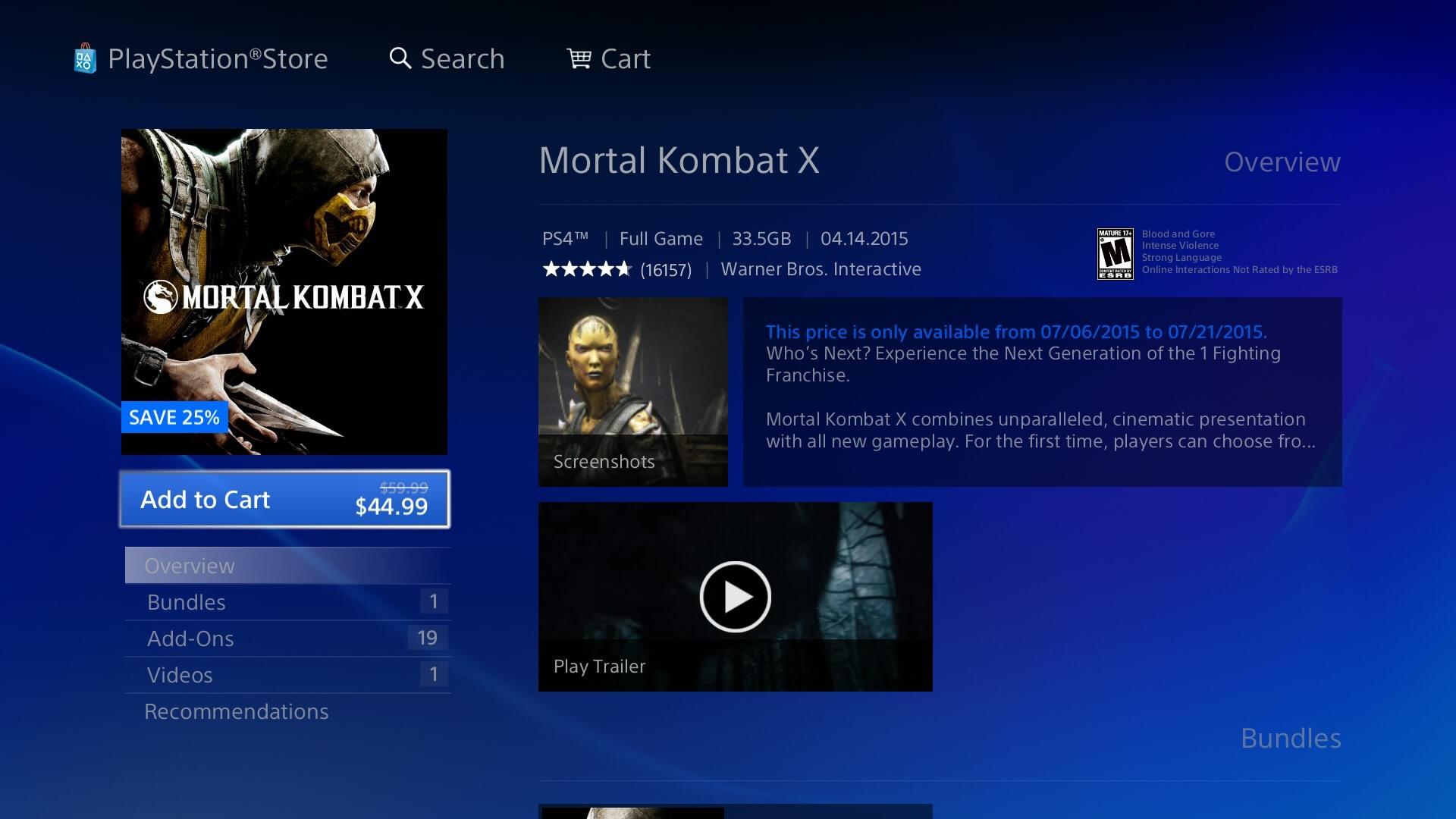 Original PS4 Store