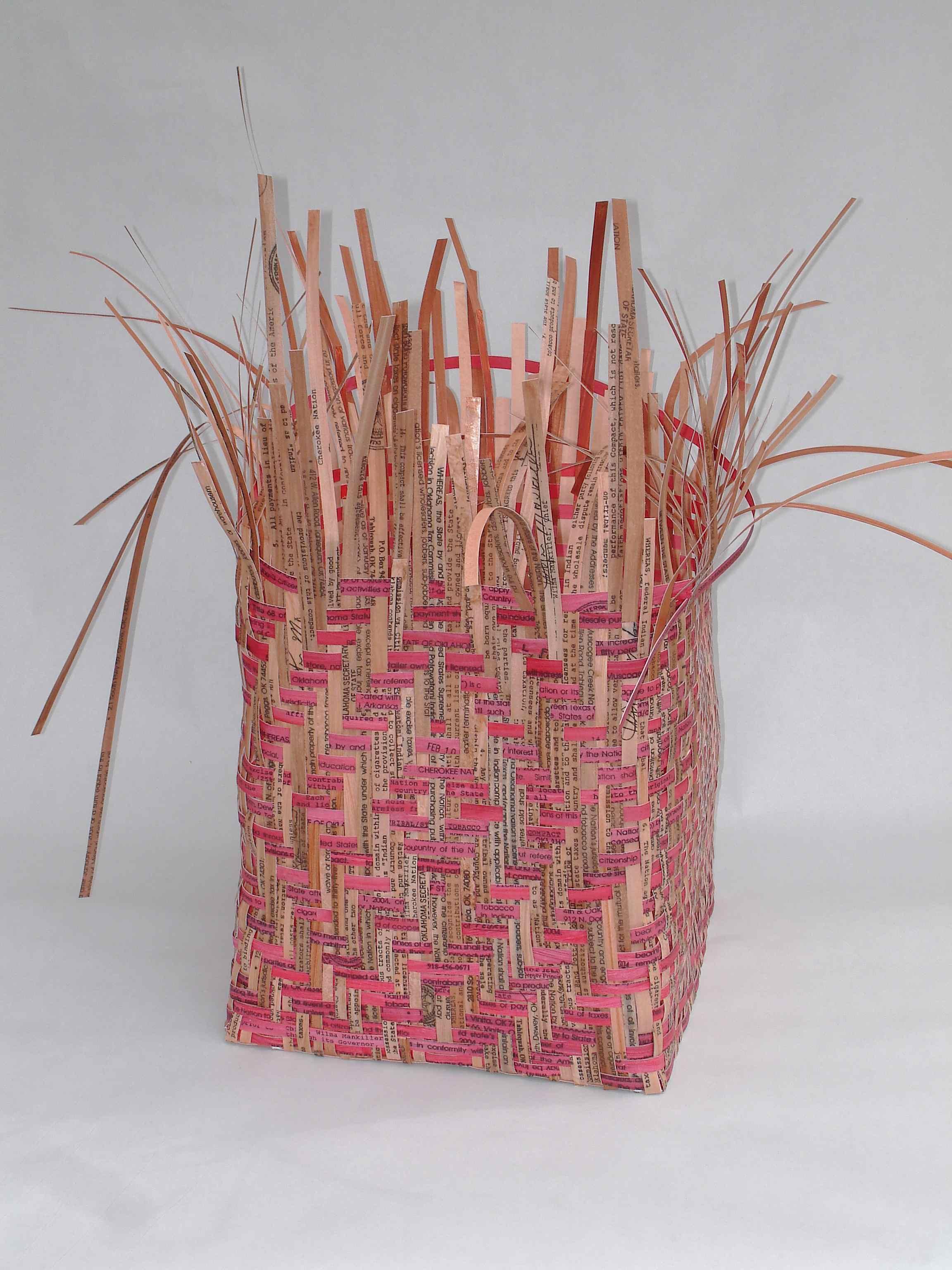 Pieced Treaties; Spider's Web Treaty Basket