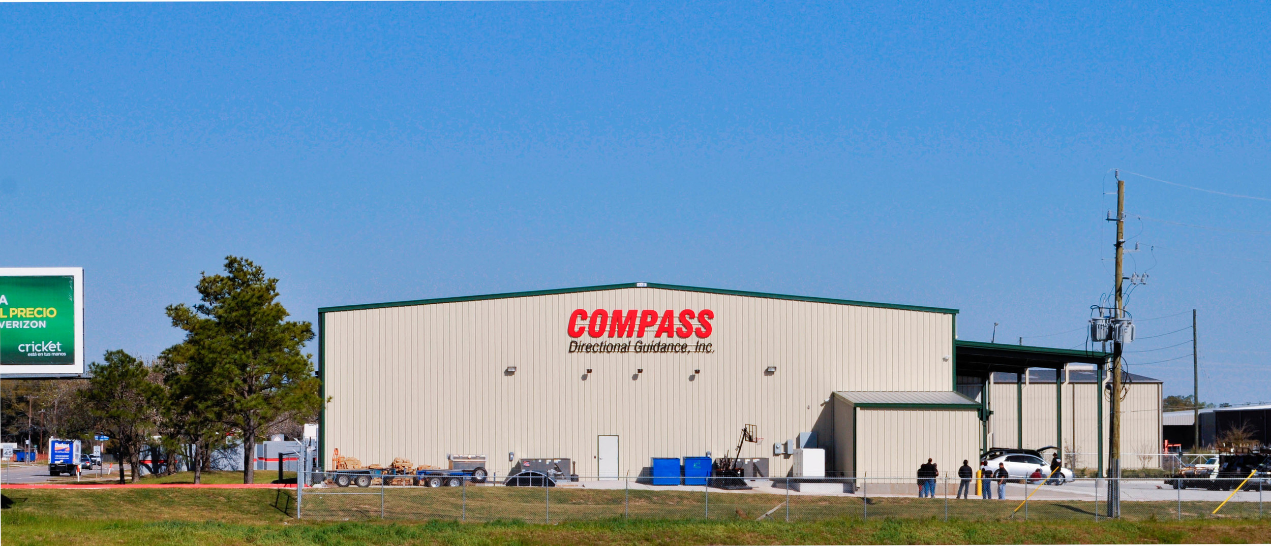 Compass Exterior Sign on Building