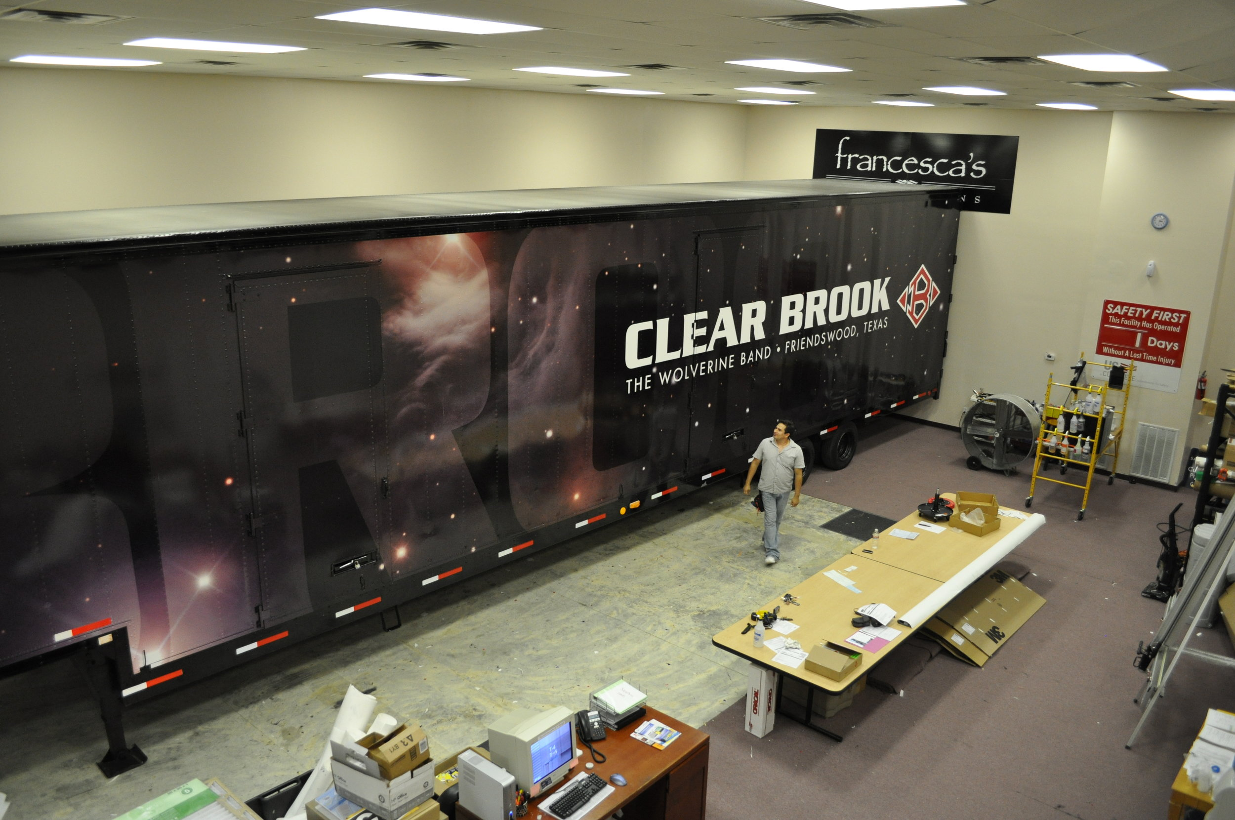 High School Band Trailer Fully Wrapped with Graphics