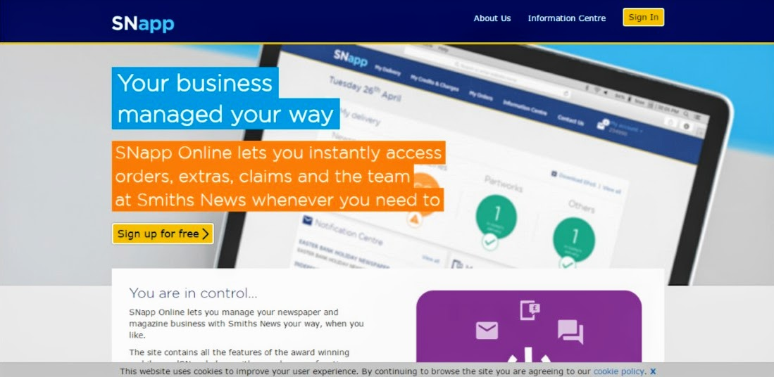 SNapp online - instantly access orders, extras and claims whenever you need to