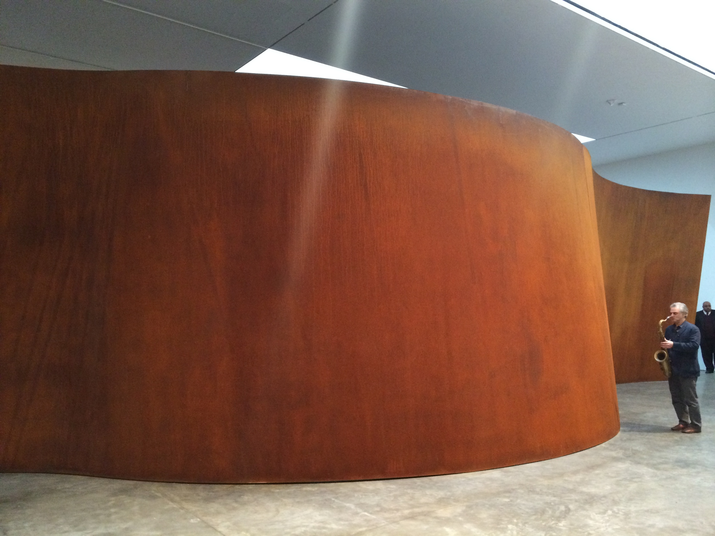 Musician Avram Fefer contemplates sculptural form and its sonic implications as he approaches Richard Serra's  Inside Out  at Gagosian Gallery, New York.