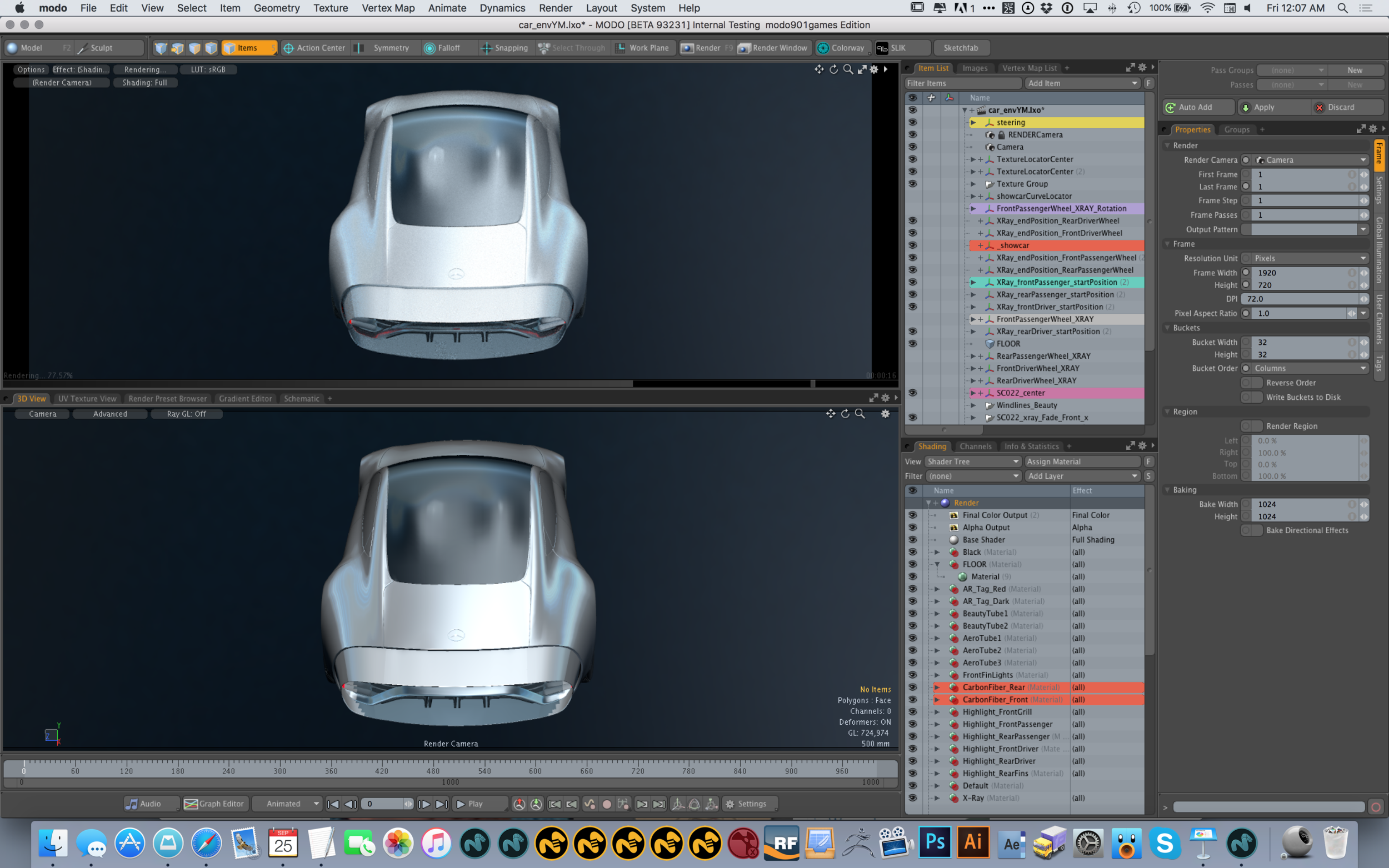 Modo's advanced viewport in action 1