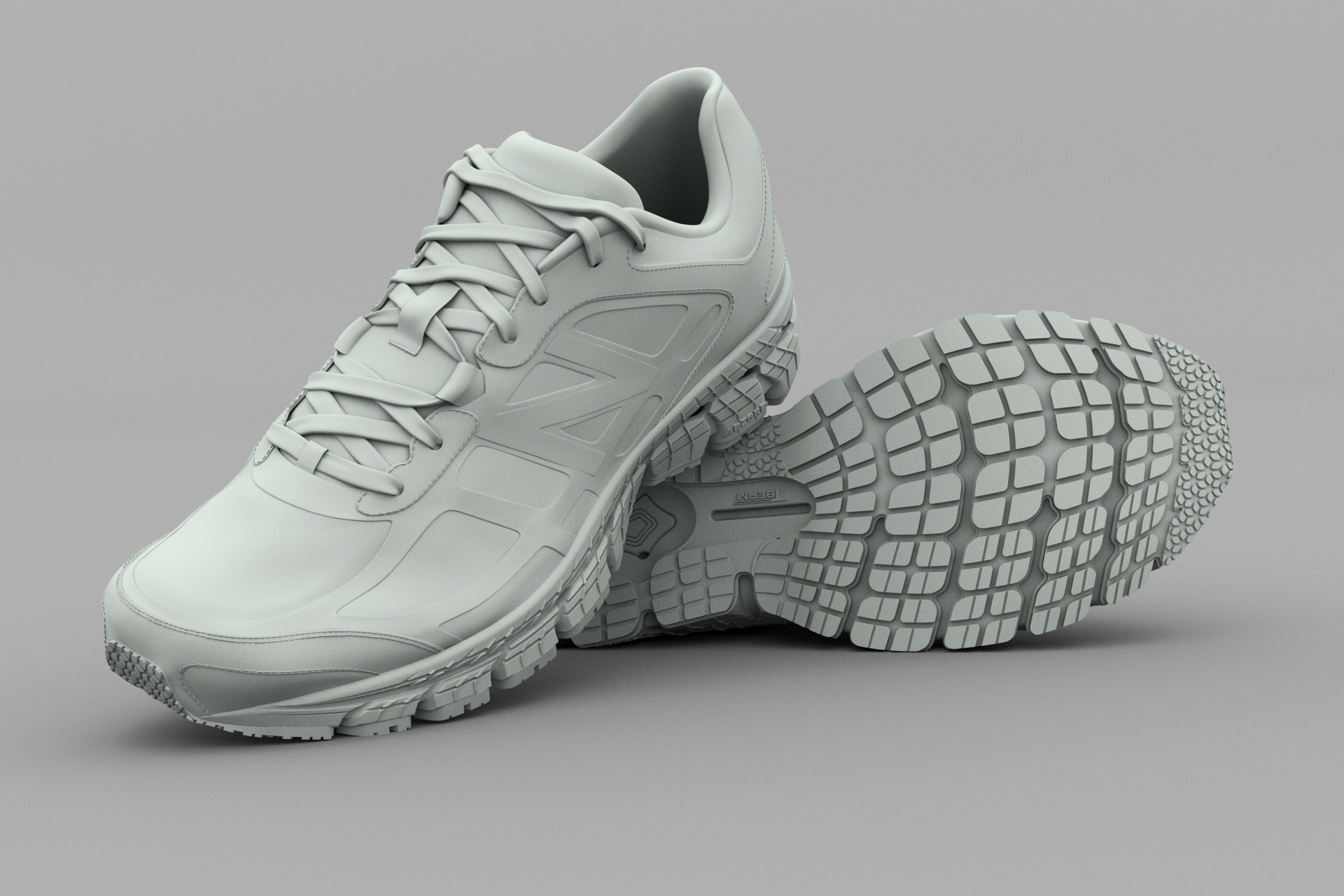 Simple gray shaded render