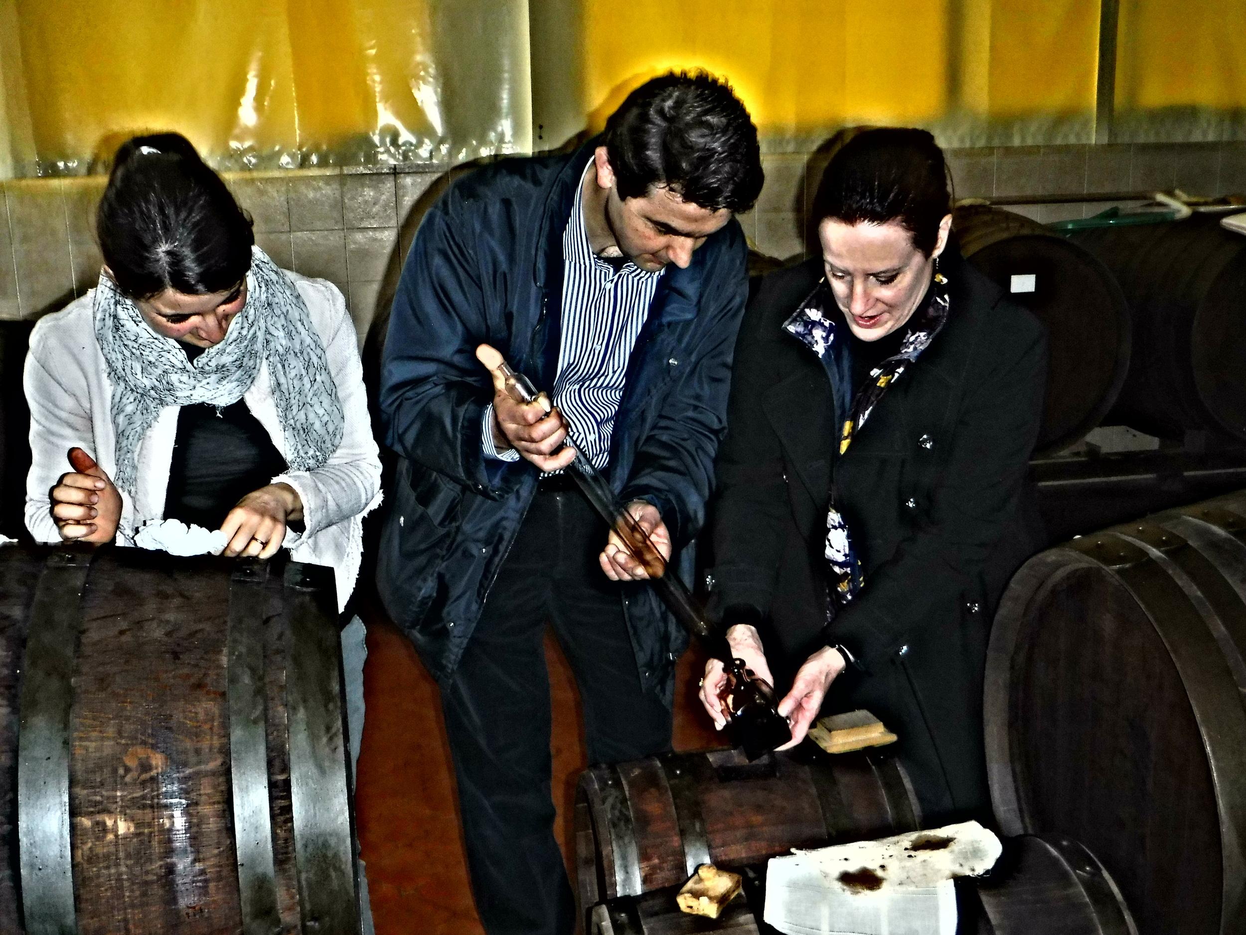 11. Consuelo & Paolo lend a hand.JPG