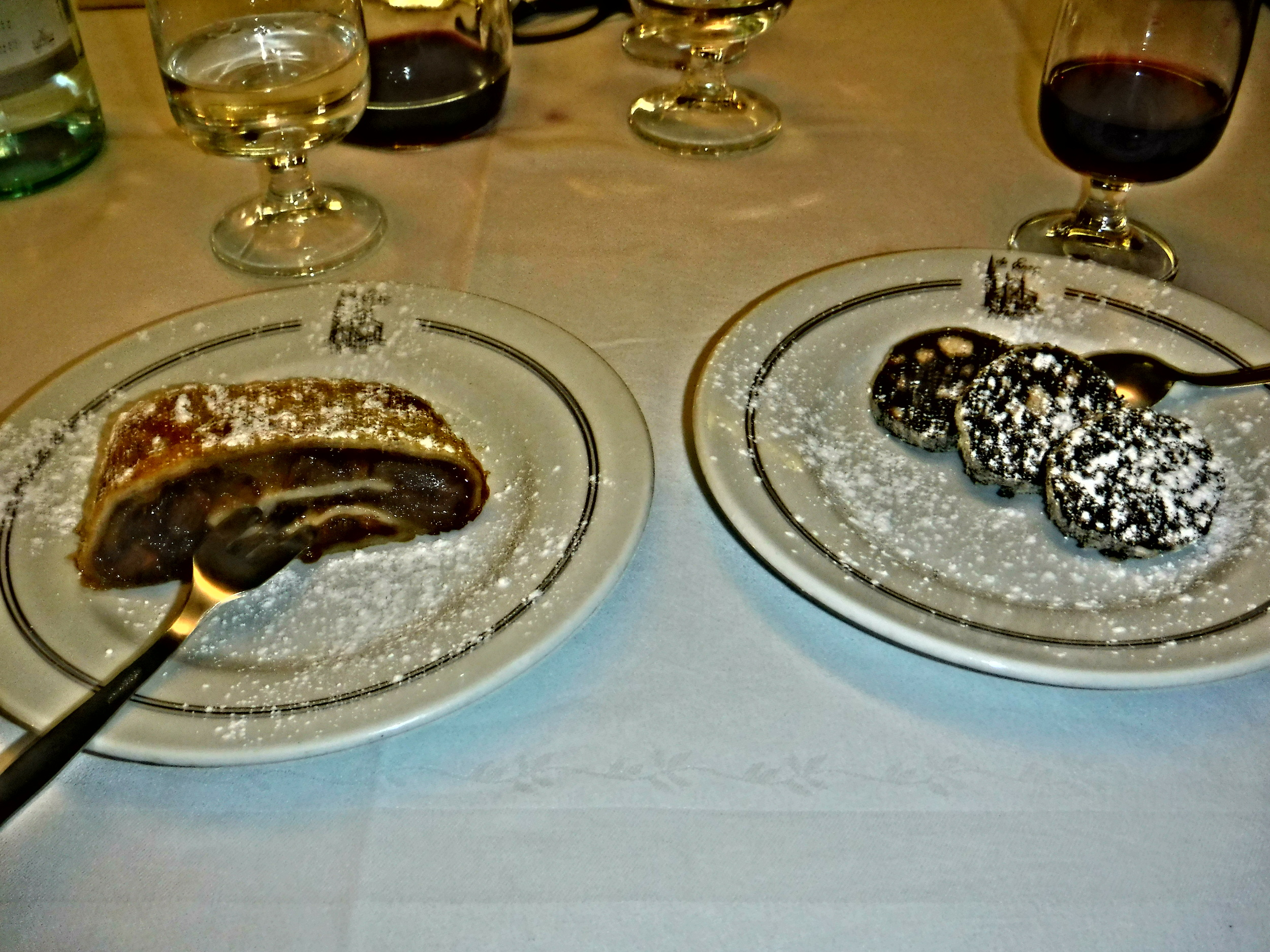 9. Homemade dessert of  fresh apple strudel & chocolate salami.JPG