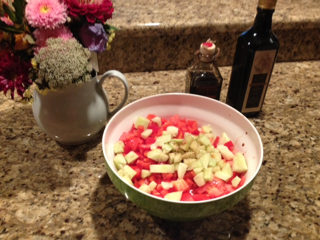 2. Chopped vine ripe tomatoes & veggies.JPG