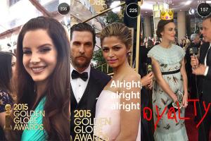 The Golden Globe SnapChat Story
