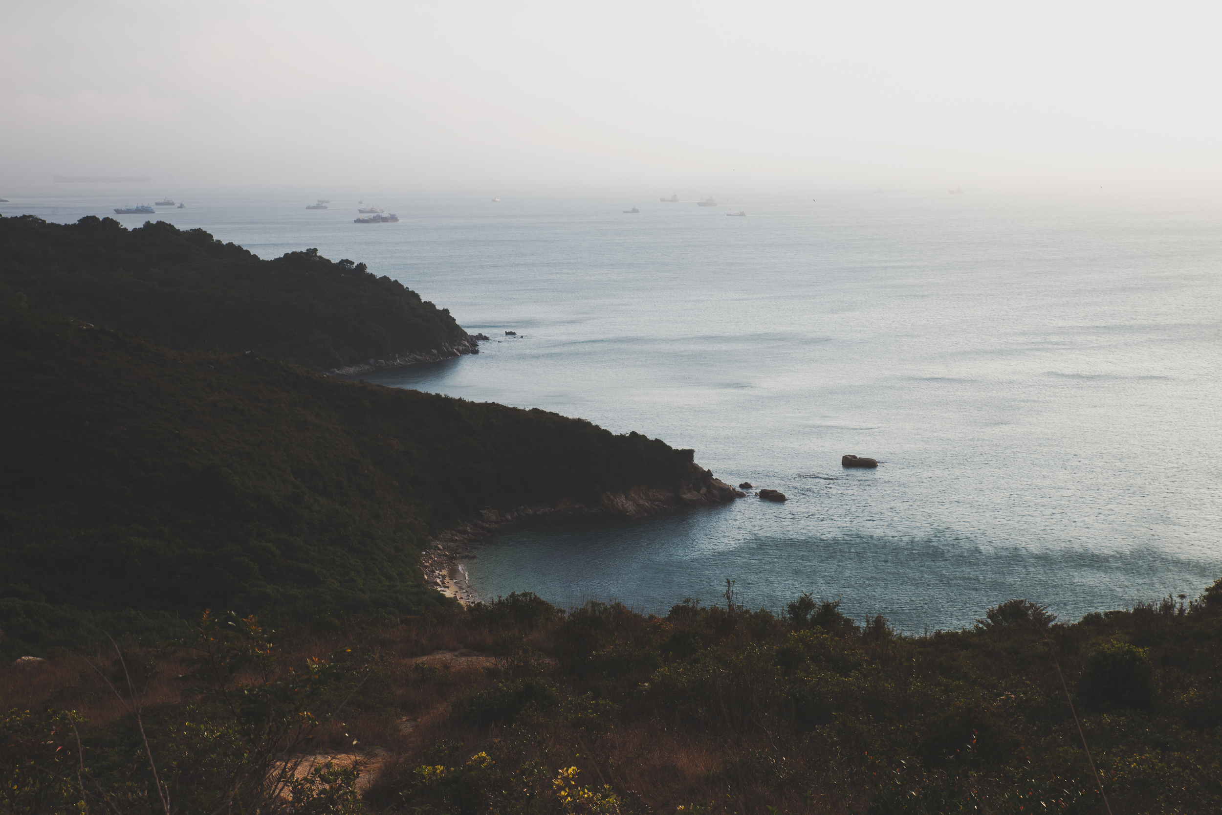 Coast off of Lamma Island