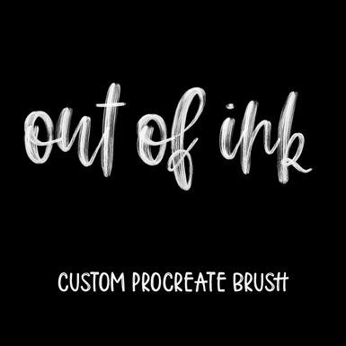 Out of Ink    by ipadlettering.com