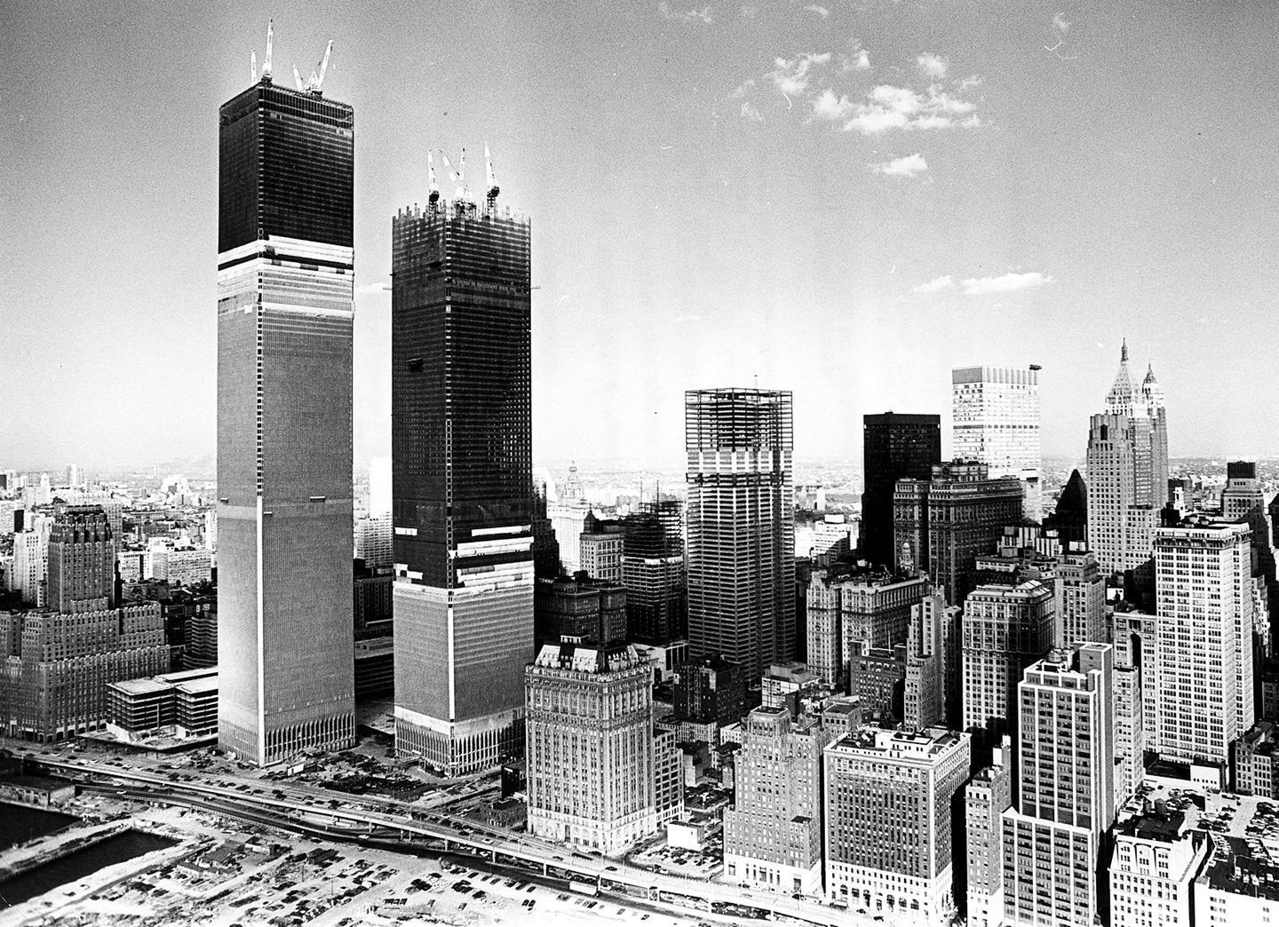 Construction of the Twin Towers - NYC - Early 1970s