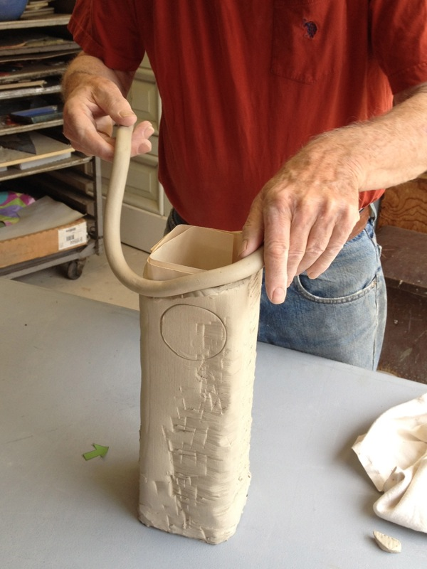 Adding a coil rim.
