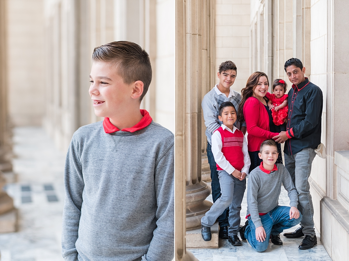 family portraits vintage courthouse white columns marble entry red gray black outfits_0321.jpg