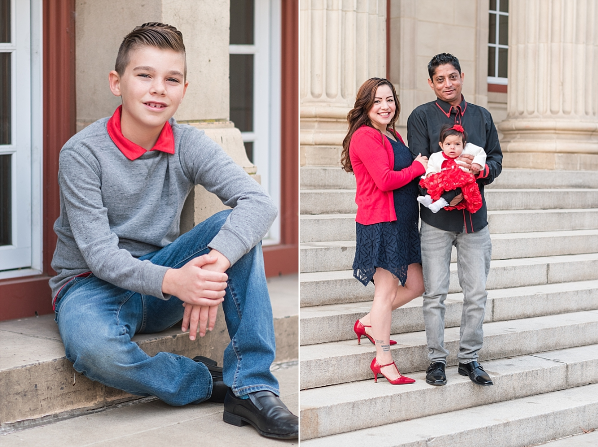 family portraits vintage courthouse white columns marble entry red gray black outfits_0329.jpg