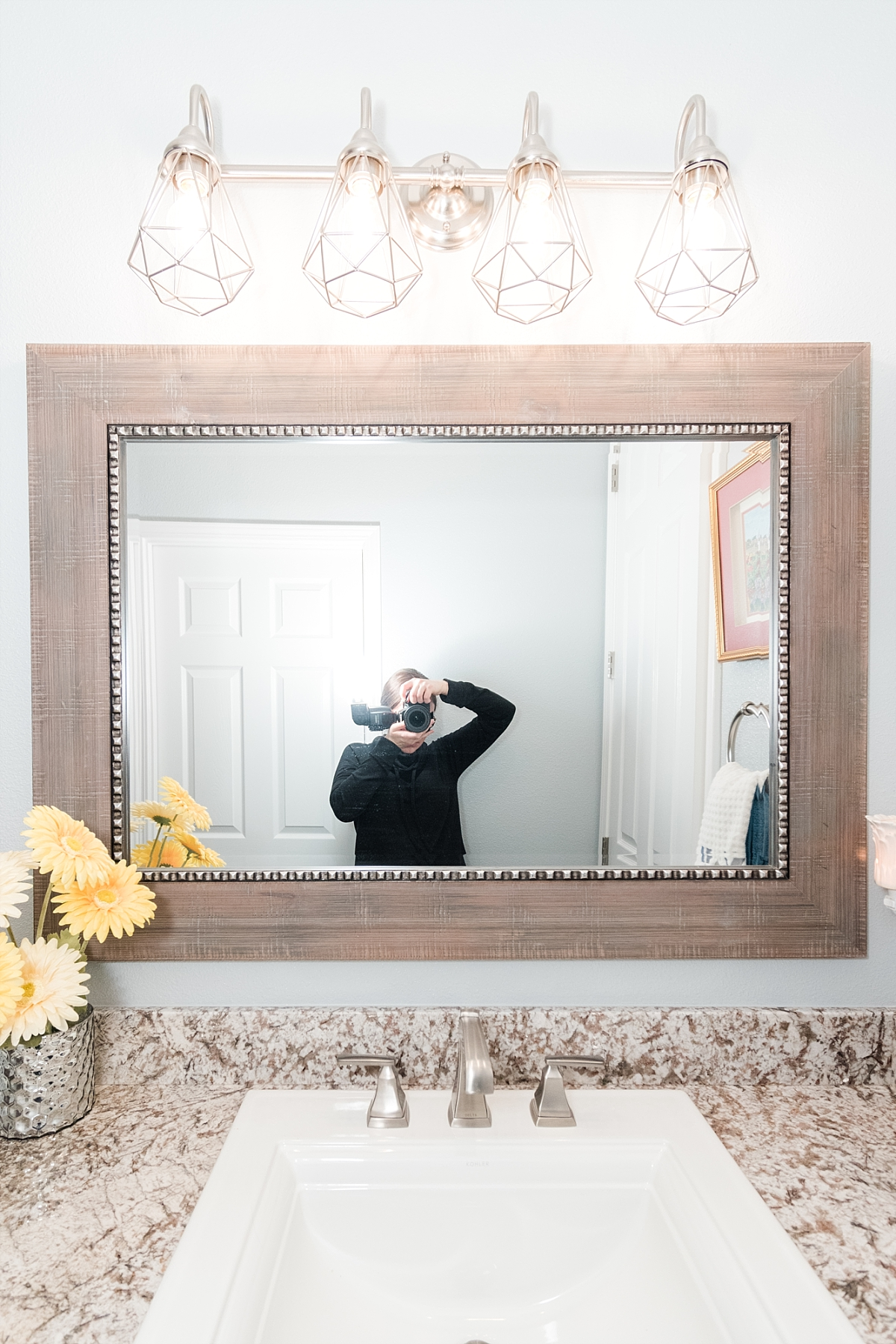 Gotta have a little fun with bathroom mirrors…Right?? :)
