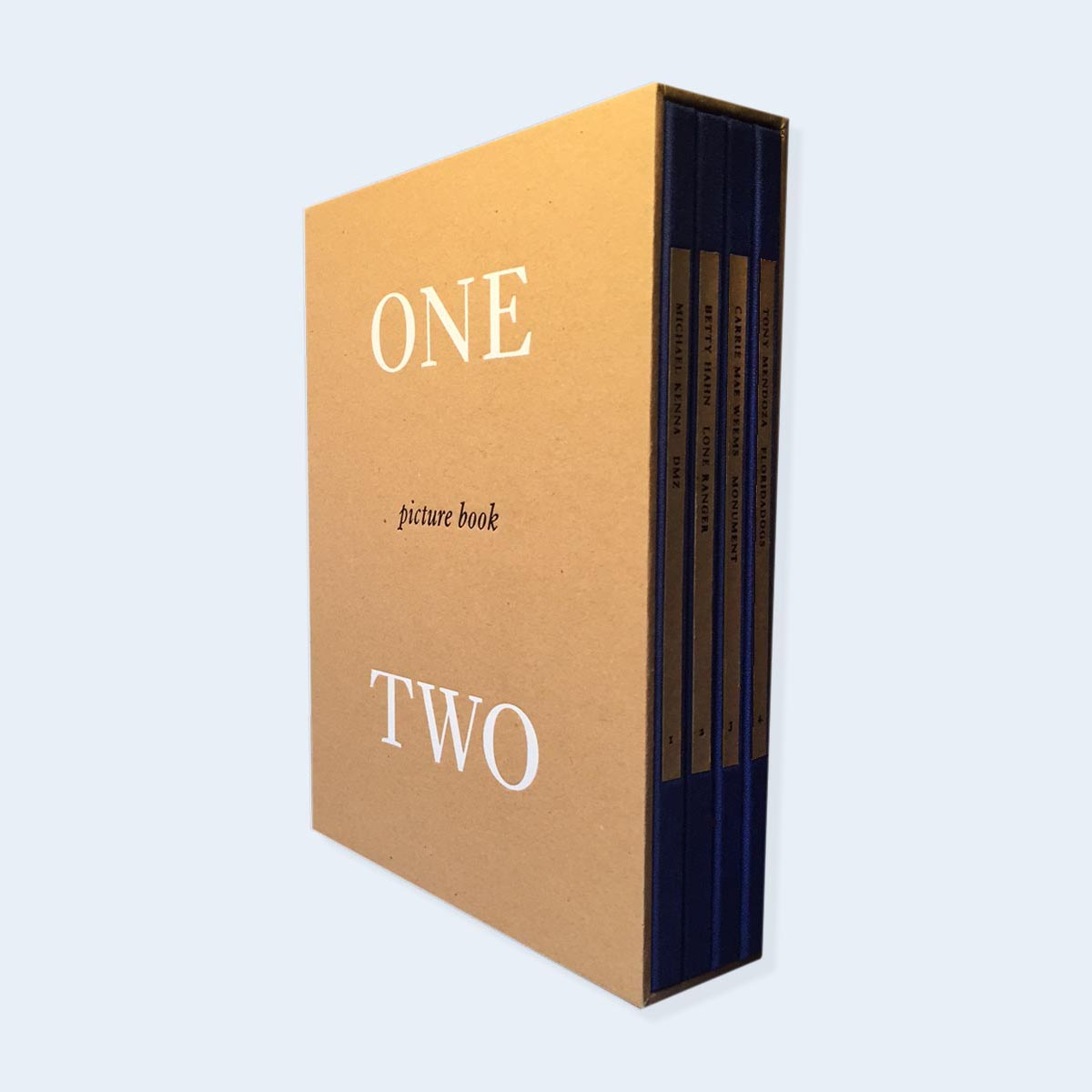 NOW SHIPPING   |  One Picture Book Two | Michael Kenna, Carrie Mae Weems, Betty Hahn, Tony Mendoza |  Order >