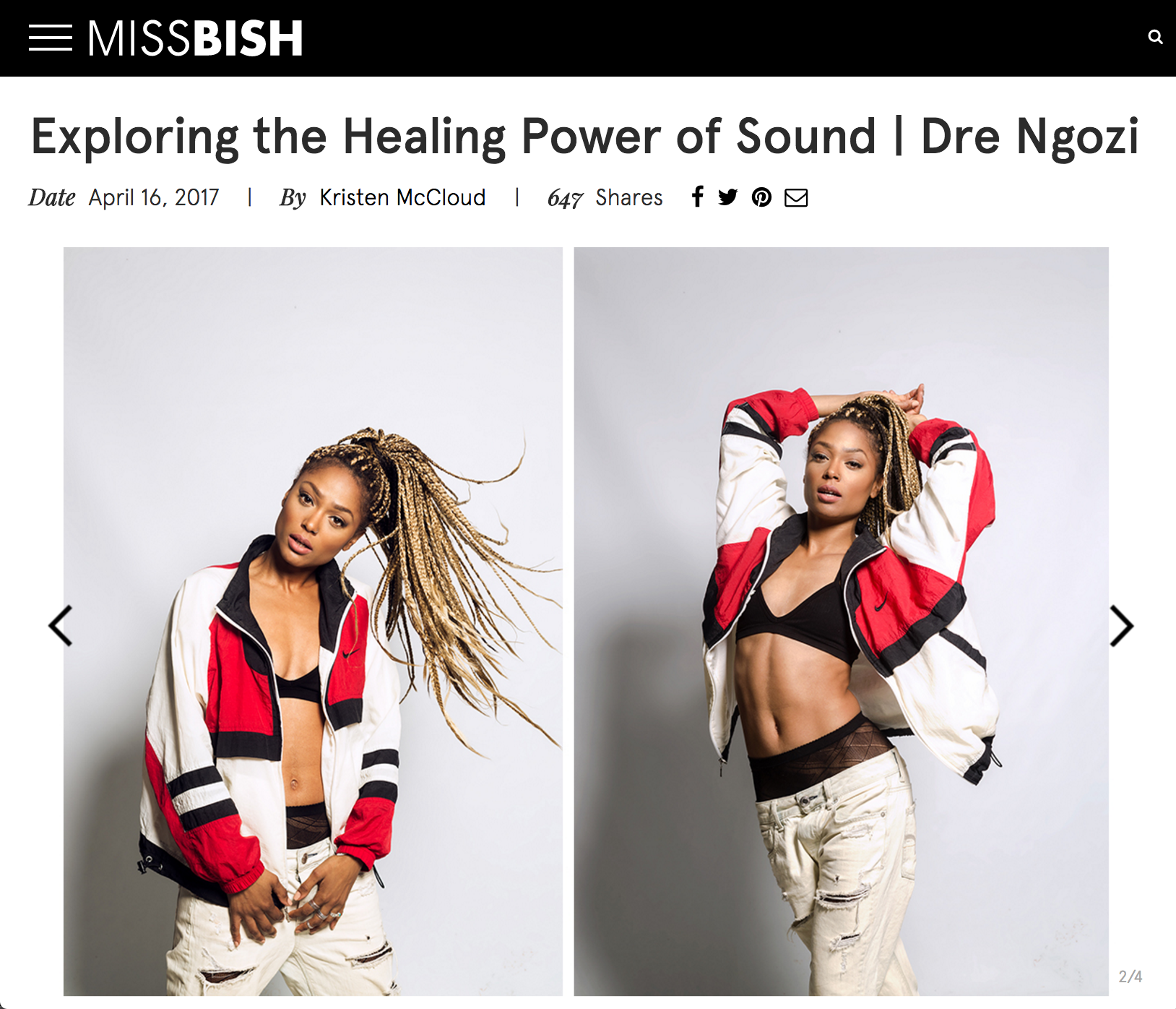 MISS BISH x DRE NGOZI    FULL INTERVIEW   HERE.