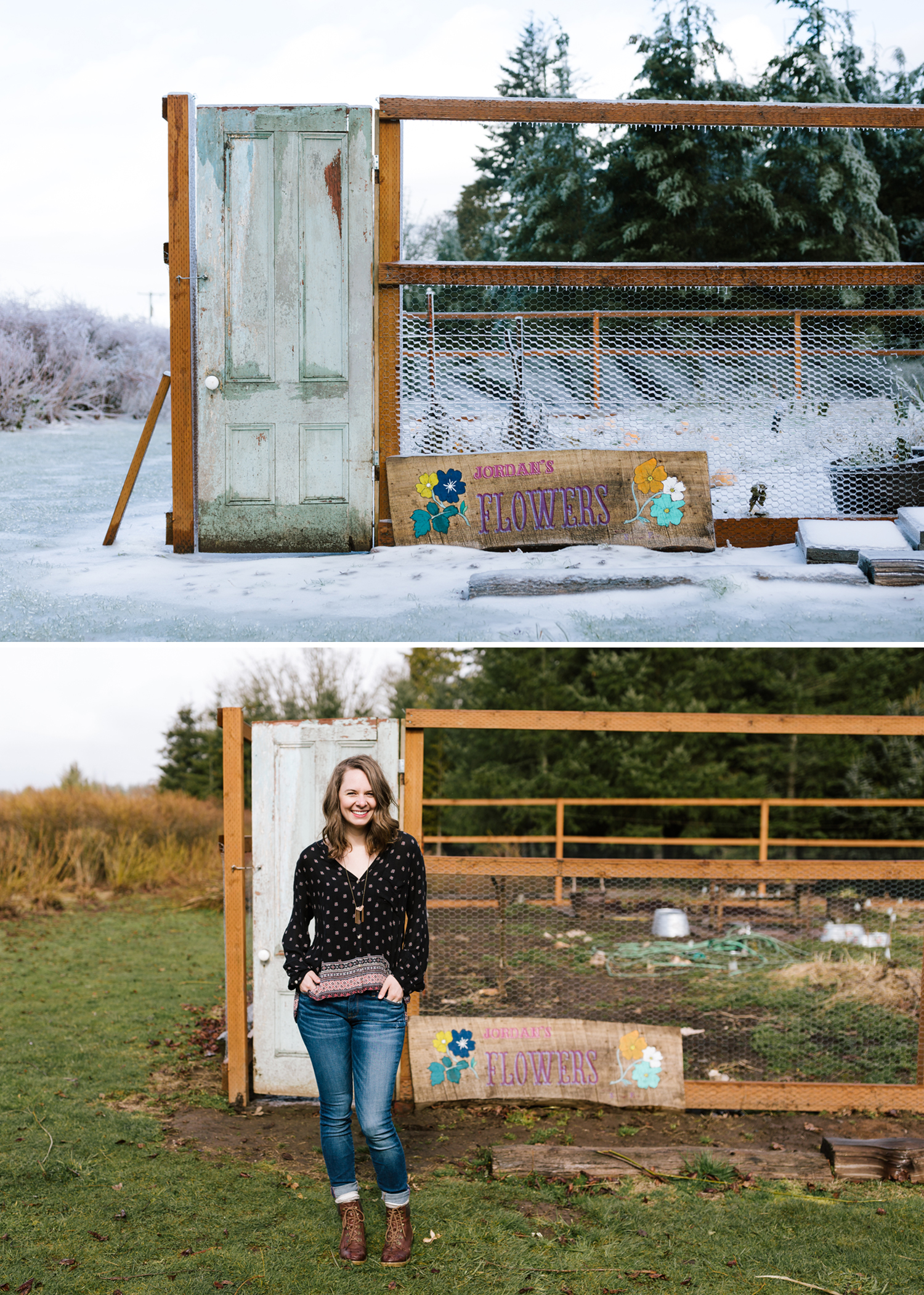 The last time I visited the farm, everything was just encased in a sheet of very thick ice. Jordan has been working hard to get her garden ready for spring and summer, and I cannot wait to see what she's able to harvest this year.