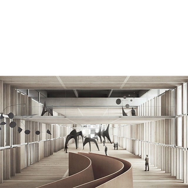 #Guggenheim #Helsinki interior view #jesusaparicio @estudioagraph #architecture #arquitectura #finland #concrete #wood #museum #design #diseño #guggenheimhelsinki #calder #richardserra