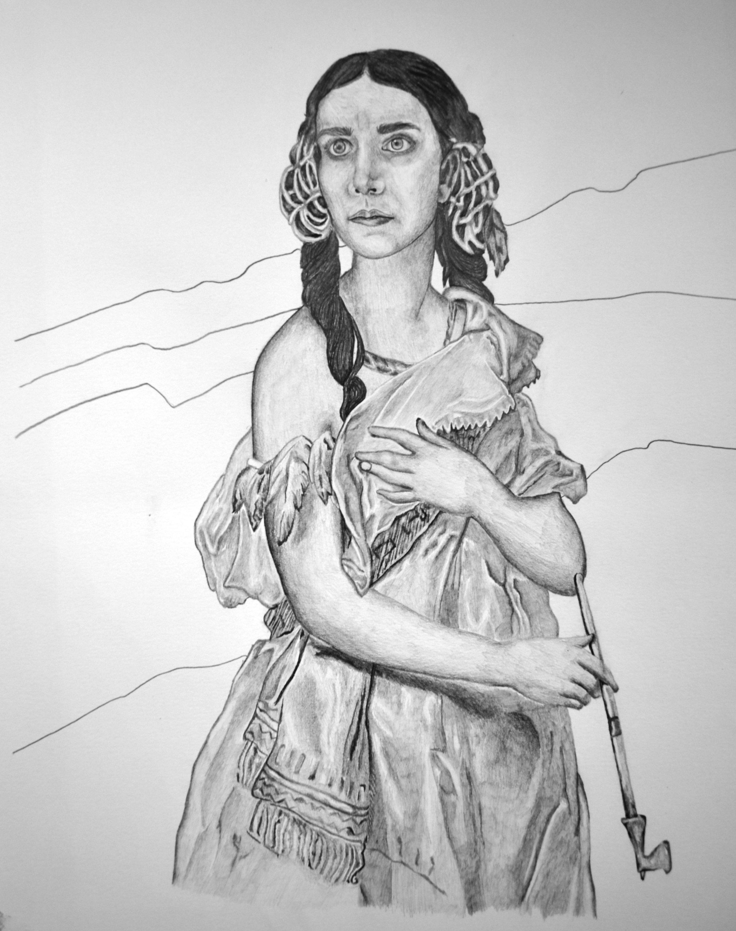Self Portrait as Pocahontas, 2011