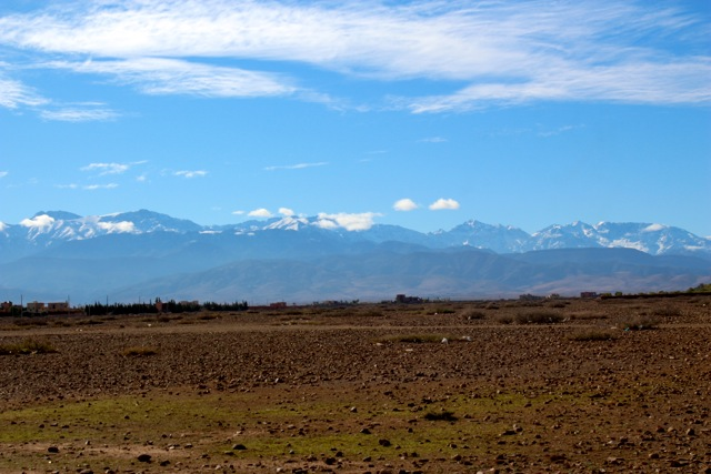 Atlas Mountains view from Marrakech.