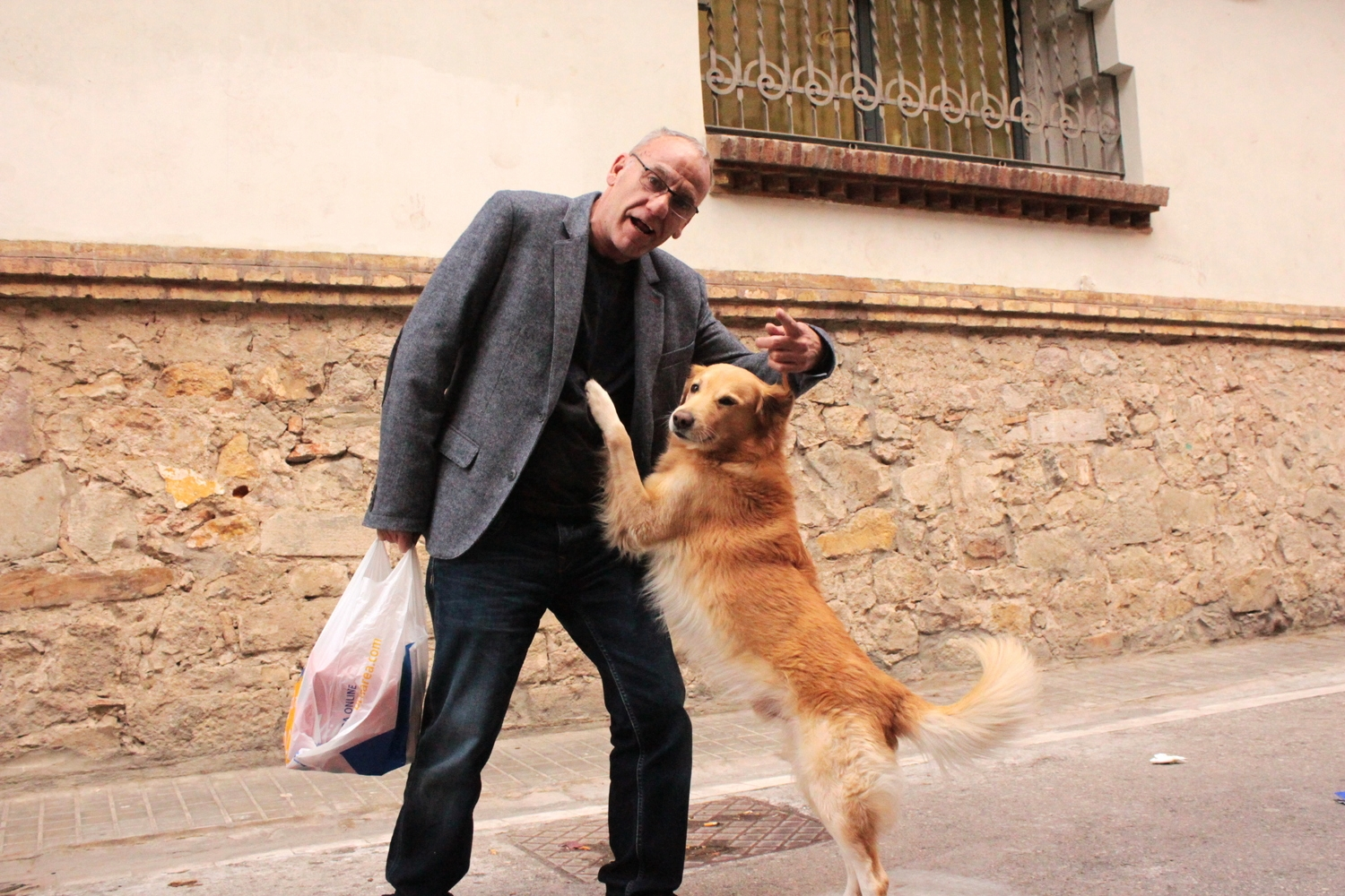 Friendly local and his dog Batista. Perfect duo.