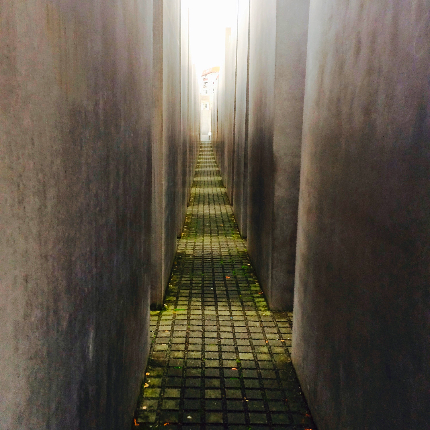 Jewish Memorial as the pillars surround me.