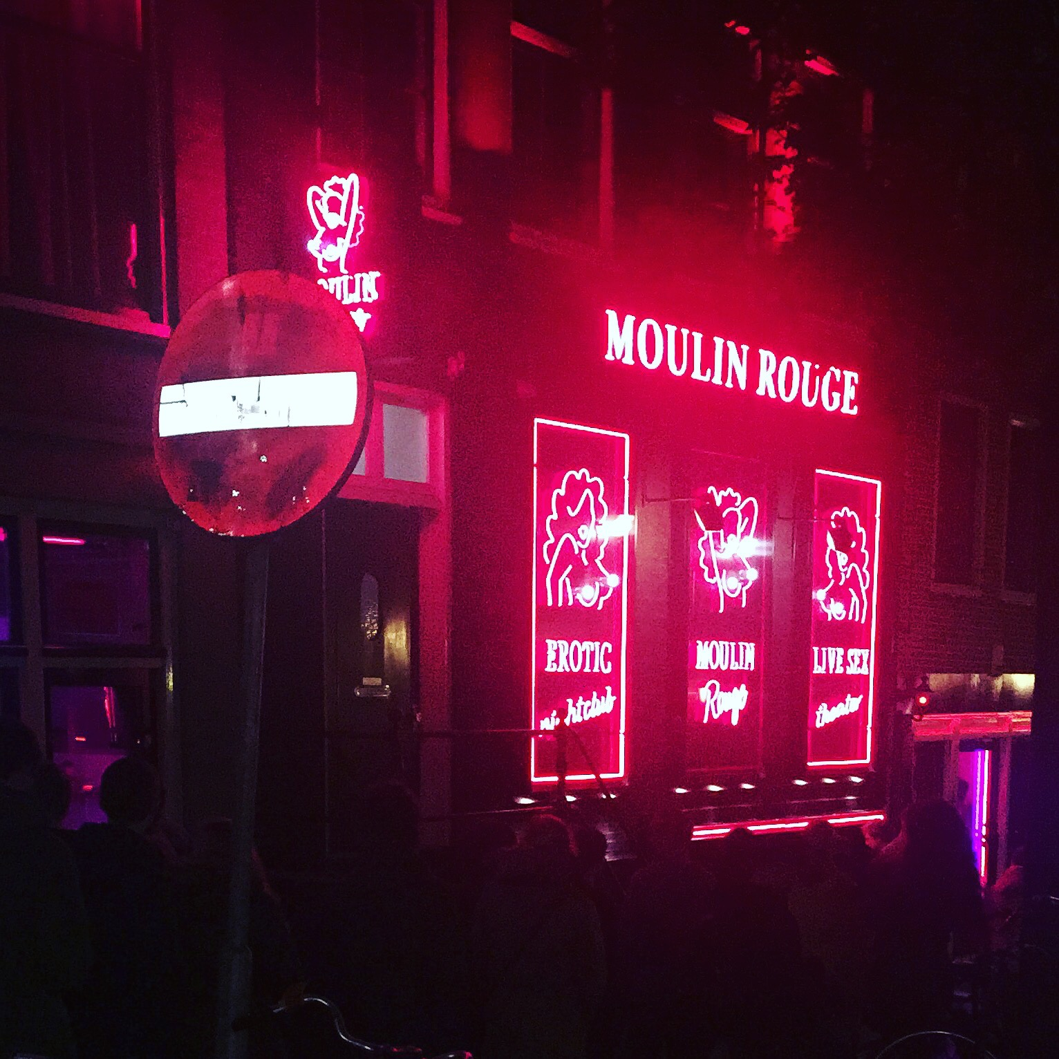This is about as wild as you can get for nighlife! Red Light District, Amsterdam.