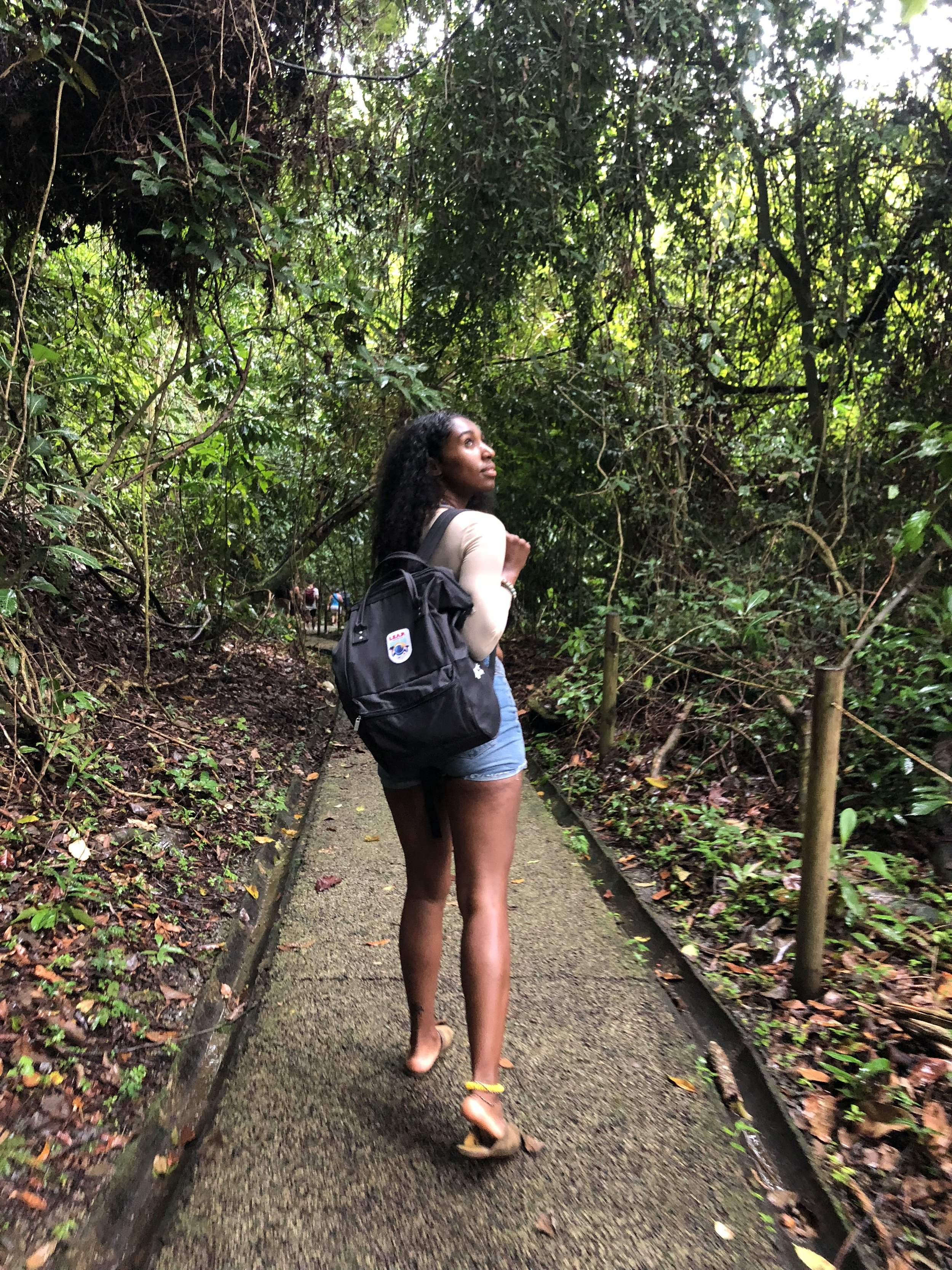 Walking through Manuel Antonio National Park. Also got caught in the rain in the rainforest and ironically, i didn't expect that.