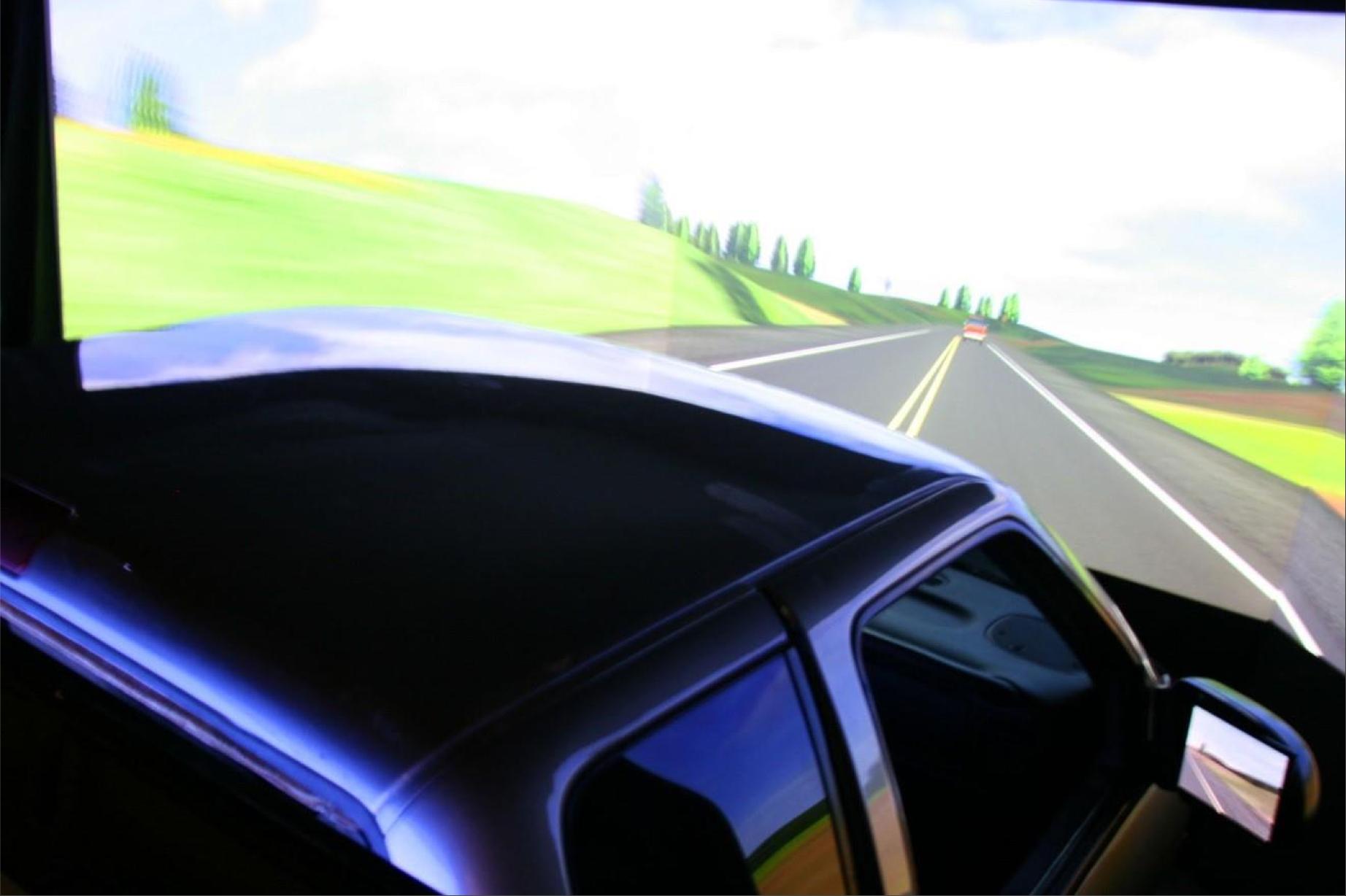 Real cab - virtual road
