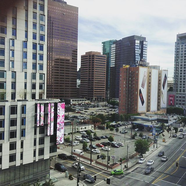 View from hotel 2 - grad students are staying in iPhone 6s hotel across the street ;) #HFES2015 #LA