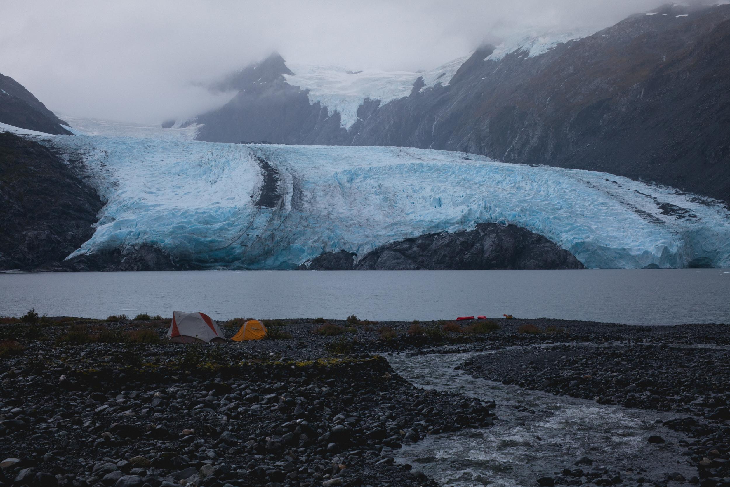 portage glacier alaska kayak camping