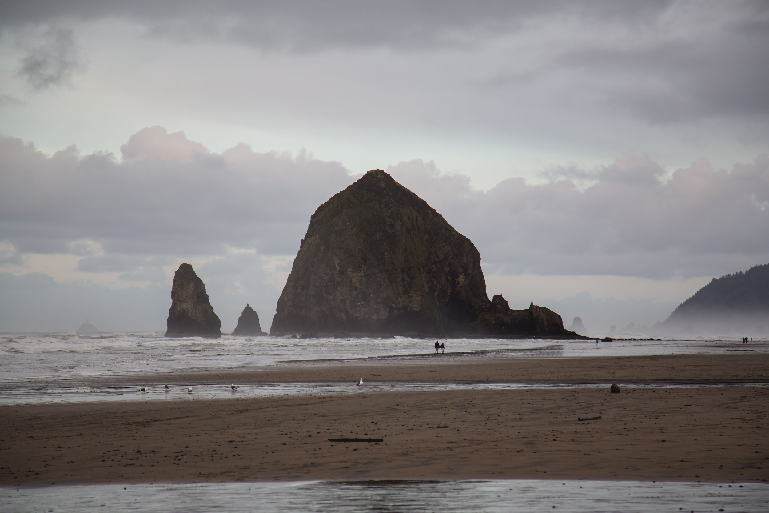 cannon beach oregon ryan villasanti haystack rock