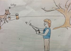 Ilustración de uno de los niños participantes en el proyecto.