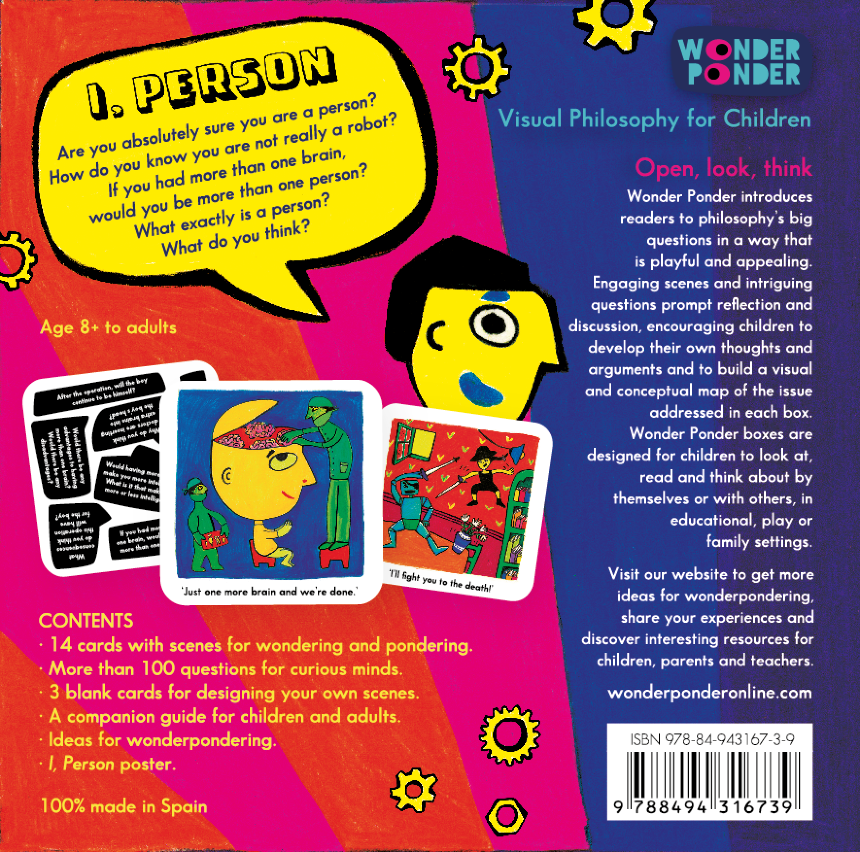 Back cover of I, Person , to be released in June 2015