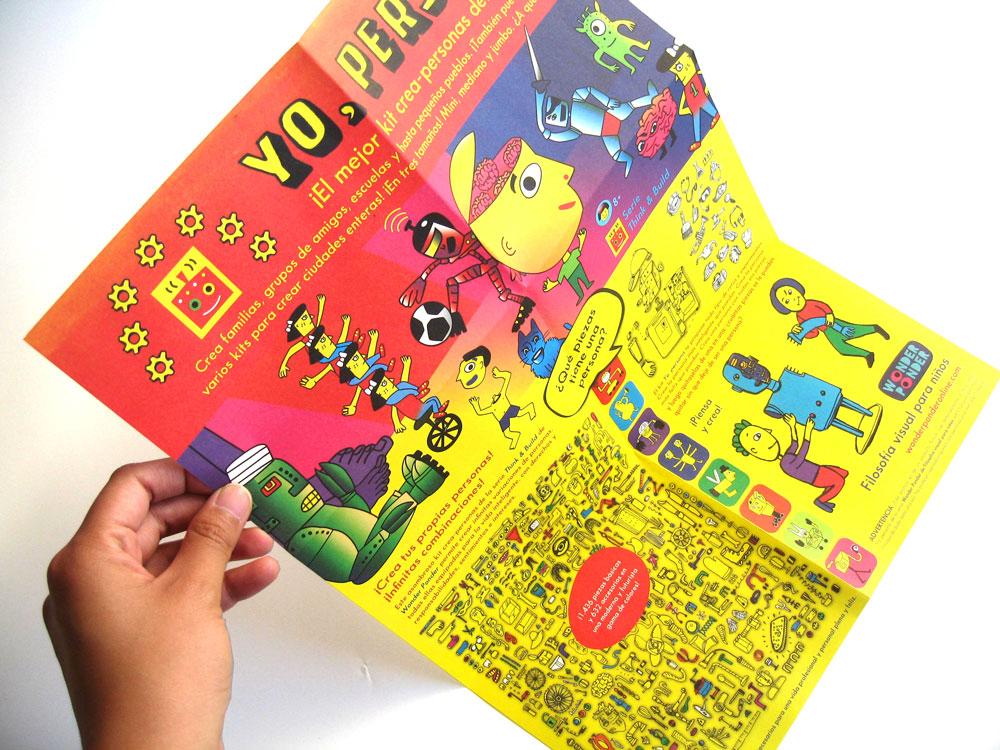 """Póster incluido en el segundo títulode la serie Wonder Ponder de Filosofía visual para niños,""""Yo, persona"""""""